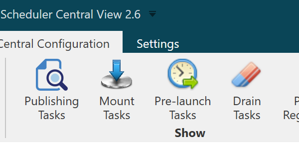 It's easy to navigate and manage Central Configuration options