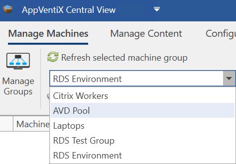 Machine Groups