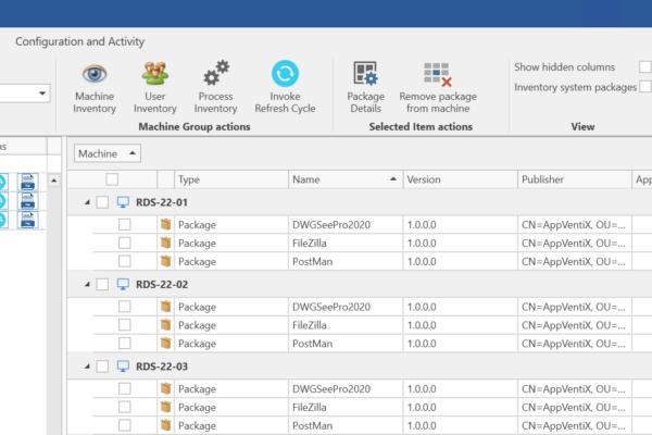 Machine Inventory Feature